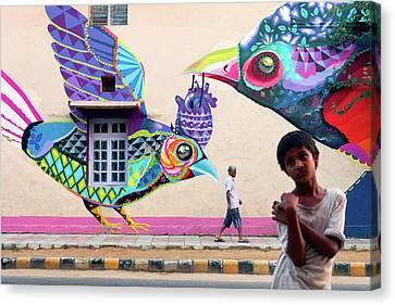 Street Art Canvas Print by Marji Lang