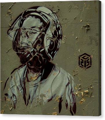 Canvas Print featuring the painting Wheat Paste Art Abstract  by Sheila Mcdonald