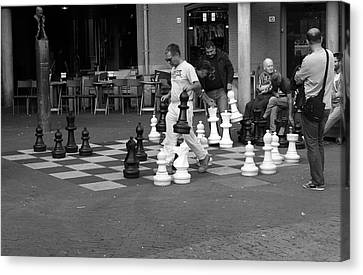 Amsterdam Street Chess Canvas Print by Aidan Moran