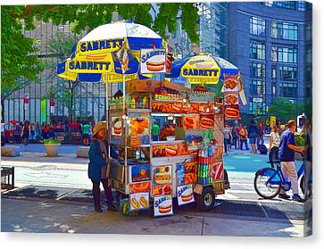 Street Food Canvas Print by Lanjee Chee