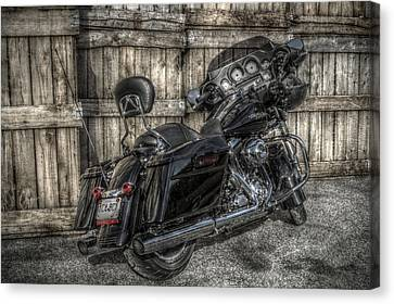 Street Glide Crated 2 Canvas Print by Bennie McLendon