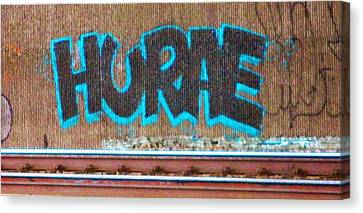 Street Graffiti-hooray Canvas Print