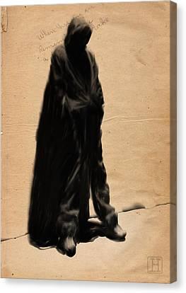 Street Canvas Print by H James Hoff
