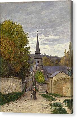 Street In Sainte Adresse Canvas Print by Claude Monet