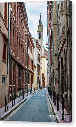 Canvas Print featuring the photograph Street In Toulouse by Elena Elisseeva