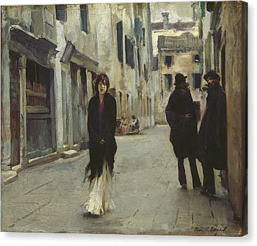 Street In Venice,  Canvas Print by John Singer Sargent