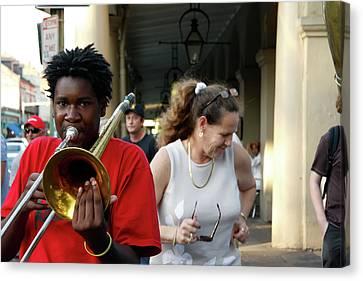 Canvas Print featuring the photograph Street Jazz by KG Thienemann