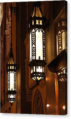 Travel Canvas Print - Street Lamps by Art Spectrum