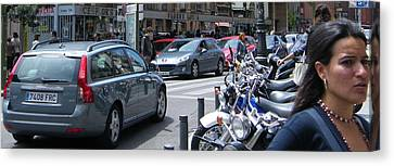 Street Life On Toledo Street - Madrid Canvas Print by Thomas Bussmann