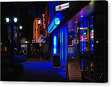 Street Lights Canvas Print - Street Life by Steavon Horne
