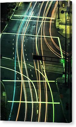 Street Lights Canvas Print by Scott Meyer
