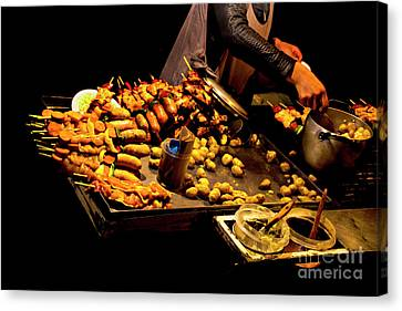 Canvas Print featuring the photograph Street Meat by Al Bourassa