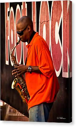 Street Music Canvas Print by Christopher Holmes