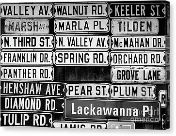 Canvas Print featuring the photograph Street Names by Colleen Kammerer