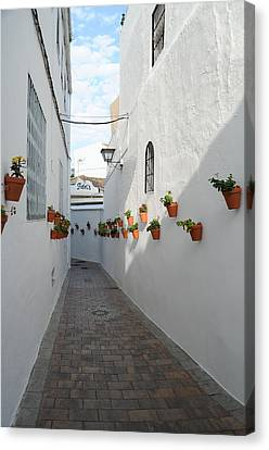 Street Of Benalmadena Pueblo Canvas Print by Tetyana Kokhanets