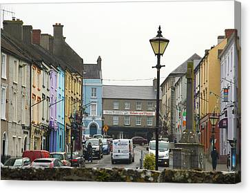 Canvas Print featuring the photograph Streets Of Cahir by Marie Leslie