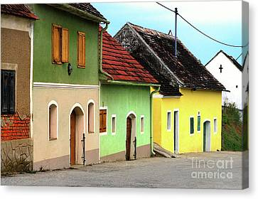 Street Of Wine Cellar Houses  Canvas Print by Mariola Bitner