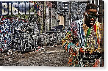 Street Phenomenon Biggie Canvas Print by The DigArtisT