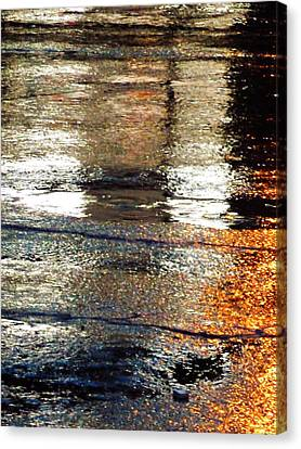 Street Reflections 2 Canvas Print