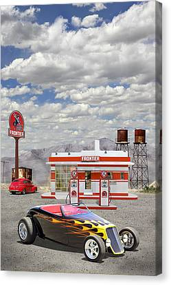 Street Rod At Frontier Station Canvas Print by Mike McGlothlen
