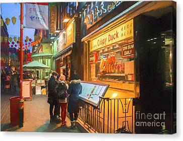 Street Scene, Chinatown, London, Uk Canvas Print by Philip Preston