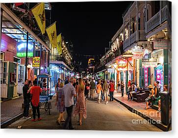 Street Scene French Quarters Canvas Print by Tod and Cynthia Grubbs