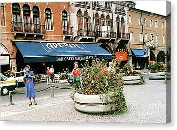 Canvas Print featuring the photograph Street Scene In Padua, Italy by Merton Allen