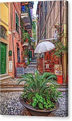 Vernazza Canvas Print - Street Scene Monterosso Italy Dsc02470 by Greg Kluempers