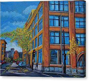 Street Study Montreal Canvas Print by Reb Frost