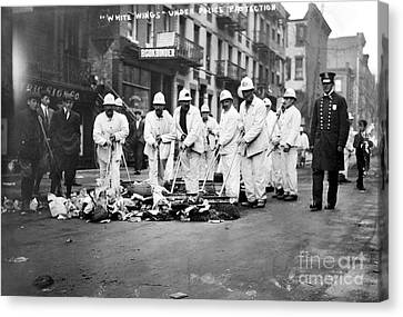 Street Sweepers, 1911 Canvas Print by Granger