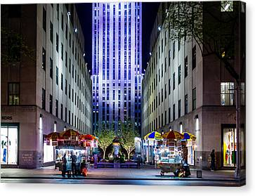 Canvas Print featuring the photograph Rockefeller Center by M G Whittingham