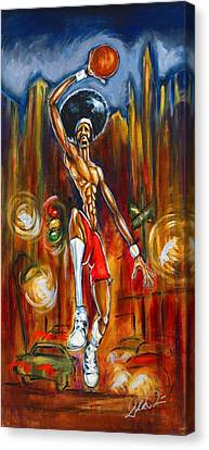 Streetball Canvas Print by Daryl Price