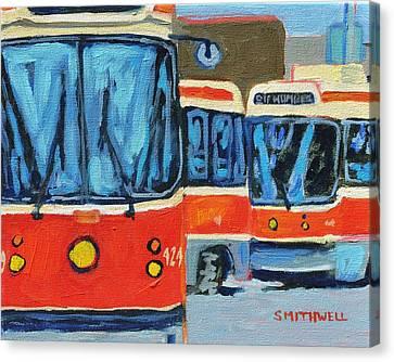 Streetcars Canvas Print by Jennifer Smithwell