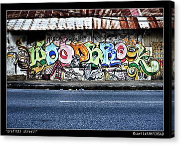Streeti Graffiti Canvas Print by Sarita Rampersad