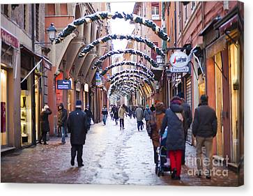 Streets Of Bologna Canvas Print
