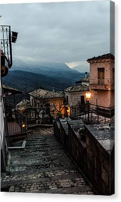 Streets Of Italy - Caramanico 3 Canvas Print