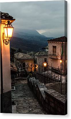 Streets Of Italy - Caramanico Canvas Print