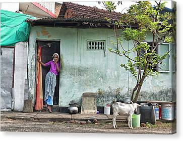 Canvas Print featuring the photograph Streets Of Kochi by Marion Galt