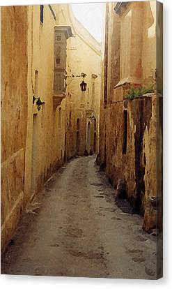 Canvas Print featuring the photograph Streets Of Malta by Debbie Karnes
