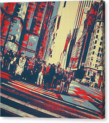 Hidden Face Canvas Print - Streets Of Manhattan by Dan Sproul