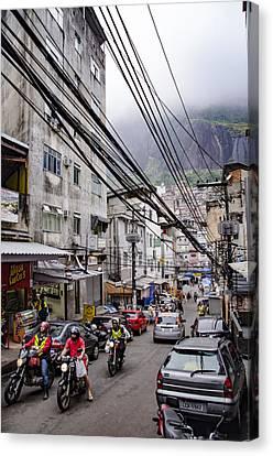 Streets Of Rocinha - Rio De Janeiro - South America Canvas Print by Jon Berghoff