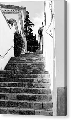 Streets Of Ronda - Stairs  Canvas Print