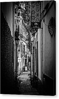 Spain Canvas Print - Streets Of Seville - Calle Pimienta Bw by Andrea Mazzocchetti
