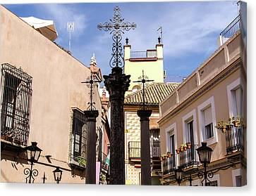 Streets Of Seville - Calle De Las Cruces 4 Canvas Print by Andrea Mazzocchetti