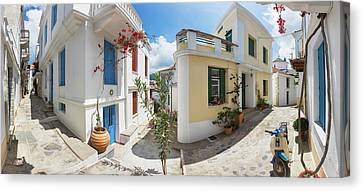 Streets Of Skopelos Canvas Print