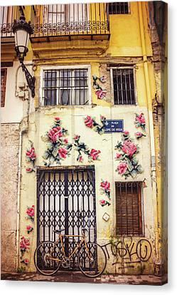 Streets Of Valencia  Canvas Print
