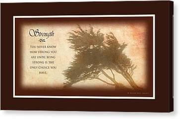 Strength Chocolate Border Canvas Print