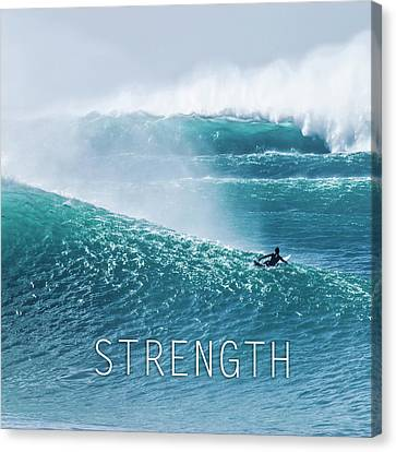 Courage Canvas Print - Strength. by Sean Davey