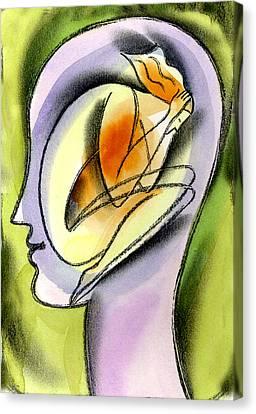 Stress And Psychological Health  Canvas Print by Leon Zernitsky