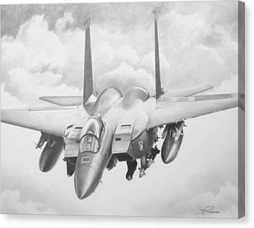 Strike Eagle Canvas Print by Stephen Roberson